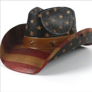 c0a68c498bf09 USA American Cowboy Hat Star Strips Summer